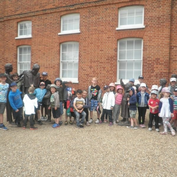hoots holiday club trip to Gressenhall museum