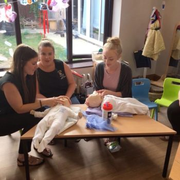 Save A Babies Life Training At Little Owls Nursery Scarning (5)