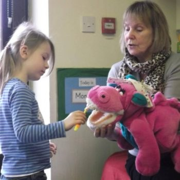 Dipsey The Dinosaur Visits Our Little Owls Day Nursery (3)