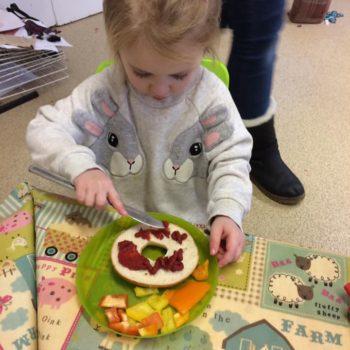 Rainbow Bagels At Little Owls Day Nursery Near Norwich (4)