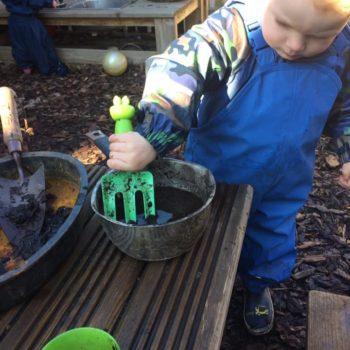 The Mud Kitchen At Snowy Owls Day Nursery Near Norwich Norfolk (1)