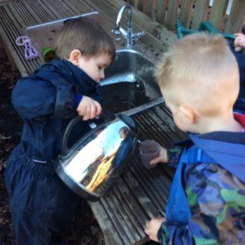 The Mud Kitchen At Snowy Owls Day Nursery Near Norwich Norfolk (6)