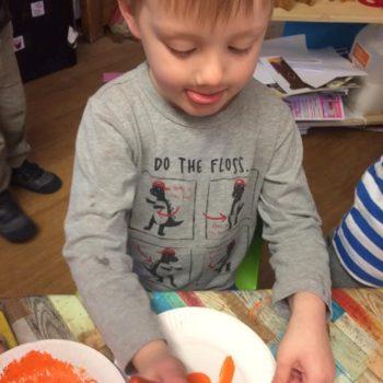Designing Their Own Pumkins At Little Owls Nursery Near Norwich (2)