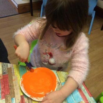 Designing Their Own Pumkins At Little Owls Nursery Near Norwich (4)