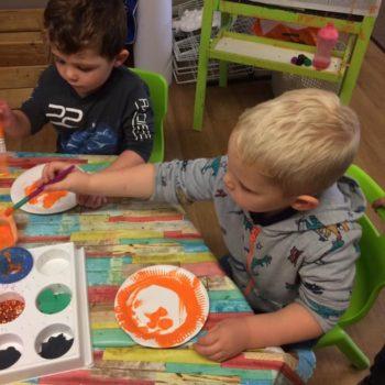 Designing Their Own Pumkins At Little Owls Nursery Near Norwich (5)