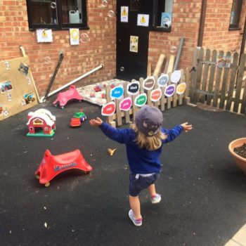 Playing With Bubbles Little Owls Day Nursery Near Kingslynn (2)