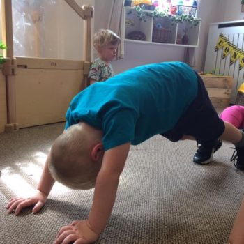 Practising Yoga At Little Owls Day Nursery (1)