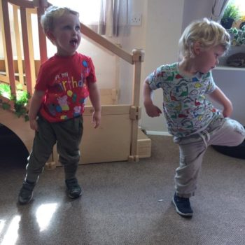 Practising Yoga At Little Owls Day Nursery (10)
