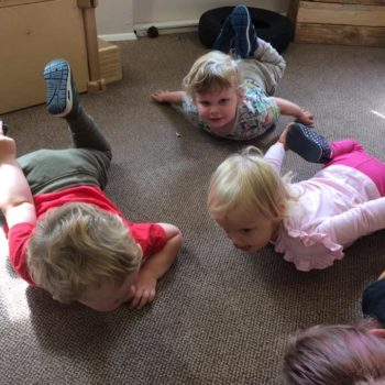 Practising Yoga At Little Owls Day Nursery (11)