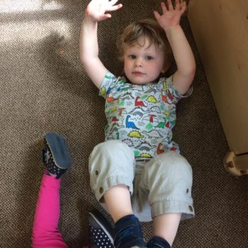 Practising Yoga At Little Owls Day Nursery (12)