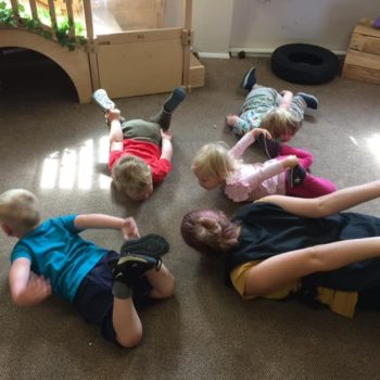 Practising Yoga At Little Owls Day Nursery (2)