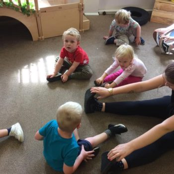 Practising Yoga At Little Owls Day Nursery (4)