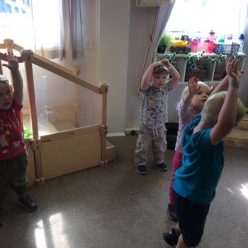 Practising Yoga At Little Owls Day Nursery (7)