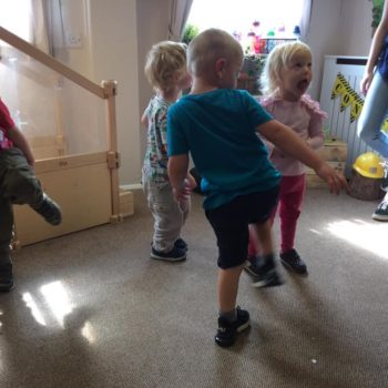 Practising Yoga At Little Owls Day Nursery (8)