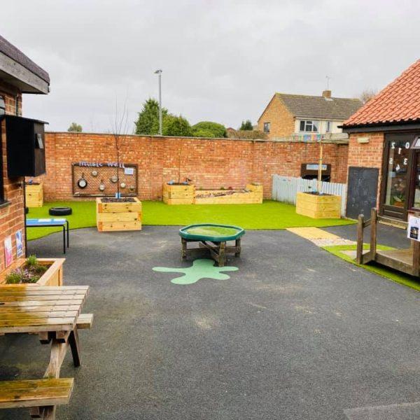 Toftwood Nursery outside play area