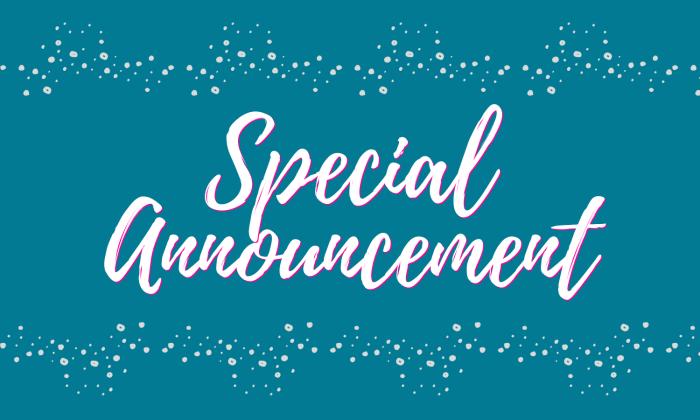 Special Announcement