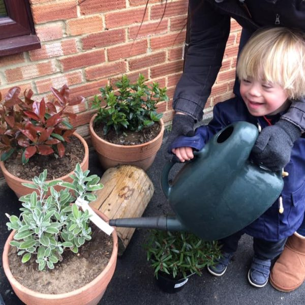 Watering The Plants At Little Owls Day Nursery (1)