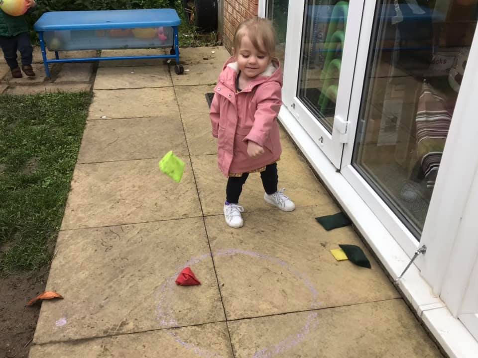 Bean Bag Tossing At Little Owls Dereham Childcare In Norfolk (4)