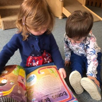 Reading About Bugs At Liitle Owls Childcare Near Norwich (1)