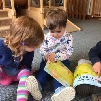 Reading About Bugs At Liitle Owls Childcare Near Norwich (3)