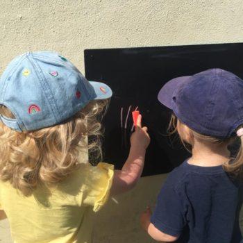 Chalk Board Art At Little Owls Childcare In Norfolk (1)