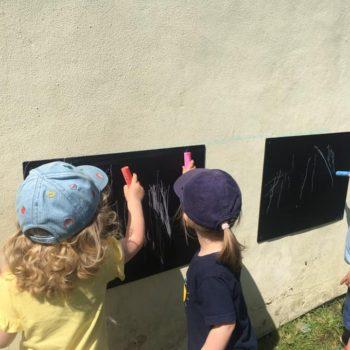 Chalk Board Art At Little Owls Childcare In Norfolk (2)