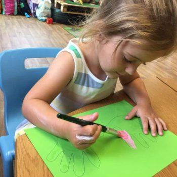 Hand Prints At Little Owls Babycare In Dereham Norfolk (1)