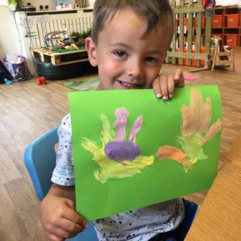 Hand Prints At Little Owls Babycare In Dereham Norfolk (4)