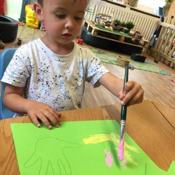 Hand Prints At Little Owls Babycare In Dereham Norfolk (5)
