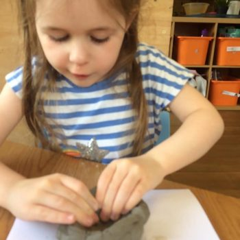 Making Clay Pots At Little Owls Childcare Near Swaffham (9)