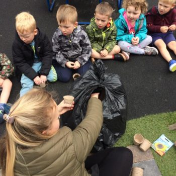 Planting Sunflower Seeds At Little Owls Day Care (1)