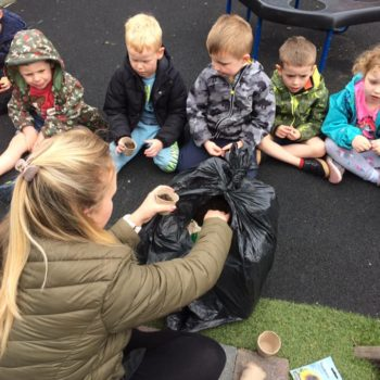Planting Sunflower Seeds At Little Owls Day Care (3)