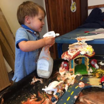 Messy Play At Little Owls Baby Care In Norfolk (2)