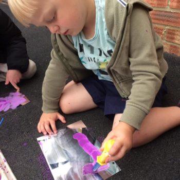 Outside Art At Little Owls Day Nursery Dereham (1)