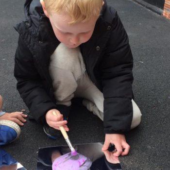 Outside Art At Little Owls Day Nursery Dereham (2)