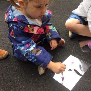 Outside Art At Little Owls Day Nursery Dereham (3)