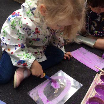 Outside Art At Little Owls Day Nursery Dereham (4)
