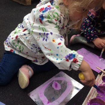 Outside Art At Little Owls Day Nursery Dereham (5)