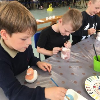Painting Our Own Pottery At Hoots Summer Holiday Club (1)