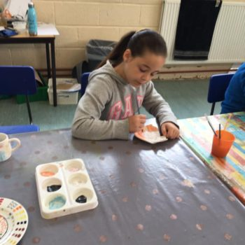 Painting Our Own Pottery At Hoots Summer Holiday Club (10)
