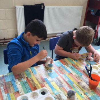 Painting Our Own Pottery At Hoots Summer Holiday Club (11)
