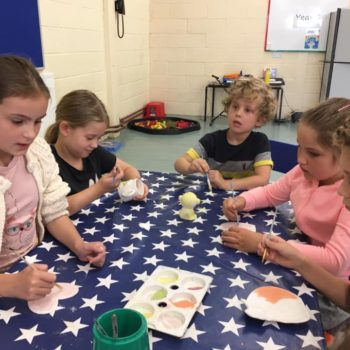 Painting Our Own Pottery At Hoots Summer Holiday Club (12)