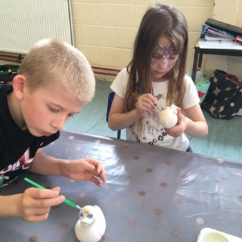 Painting Our Own Pottery At Hoots Summer Holiday Club (13)