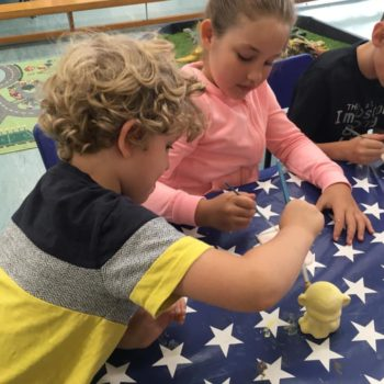 Painting Our Own Pottery At Hoots Summer Holiday Club (14)