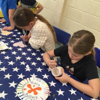 Painting Our Own Pottery At Hoots Summer Holiday Club (15)