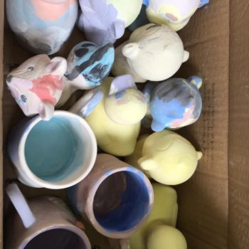 Painting Our Own Pottery At Hoots Summer Holiday Club (16)