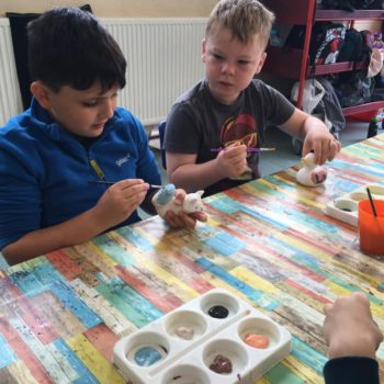 Painting Our Own Pottery At Hoots Summer Holiday Club (18)