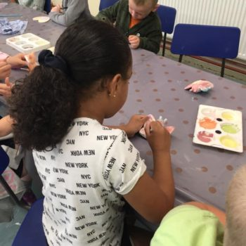 Painting Our Own Pottery At Hoots Summer Holiday Club (19)