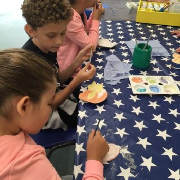 Painting Our Own Pottery At Hoots Summer Holiday Club (3)
