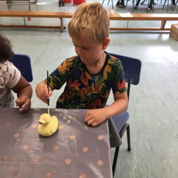 Painting Our Own Pottery At Hoots Summer Holiday Club (4)